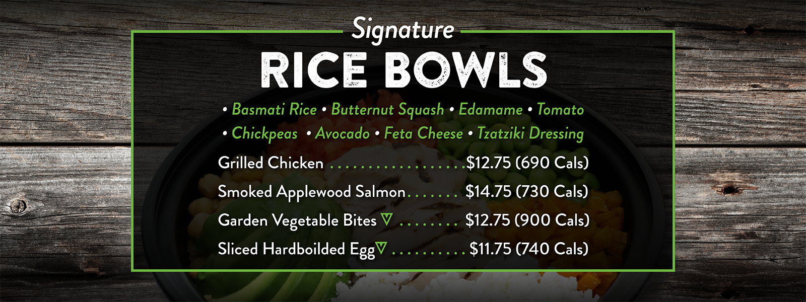 Introducing Brand New Signature Rice Bowls