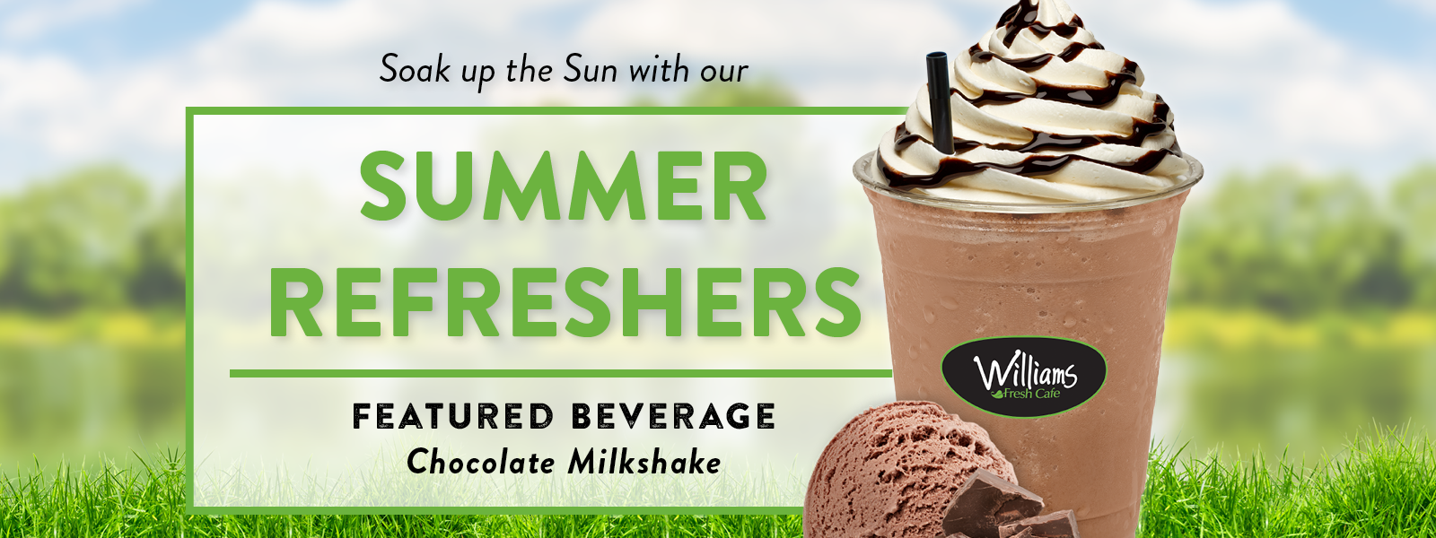 Chocolate Milkshake Summer Refreshers
