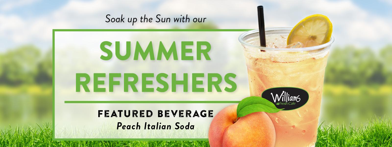 WFC 0218 0519 Summer Refreshers 2019 – (PEACH ITALIAN SODA) Website Banner Desktop (1600×600)