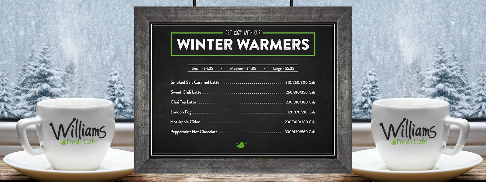 Updated 2019 Winter Warmers Premium Beverage Menu