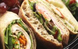 catering sandwich platter close up
